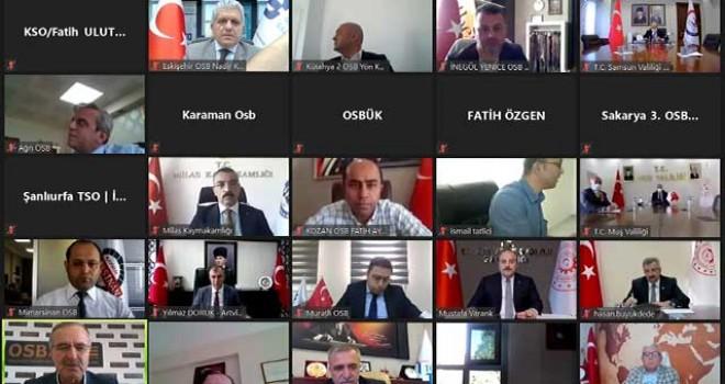 KÜPELİ, OSB'NİN TALEPLERİNİ BAKAN VARANK'A AKTARDI