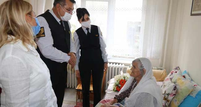 JANDARMADAN 101 YAŞINDAKİ EREL'E ZİYARET