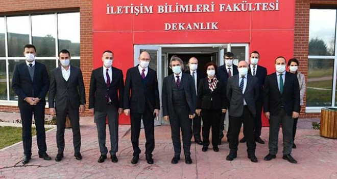 BAKAN YARDIMCISI DEMİRCAN, REKTÖR ERDAL'I ZİYARET ETTİ