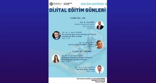 """ANADOLU'DA """"DİJİTAL EĞİTİM  GÜNLERİ"""" DÜZENLENECEK"""