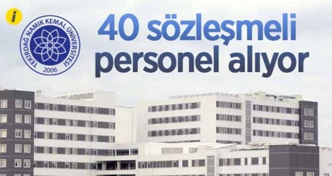 40 SÖZLEŞMELİ PERSONEL ALINACAK