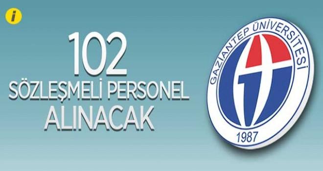 102 SÖZLEŞMELİ PERSONEL ALINACAK