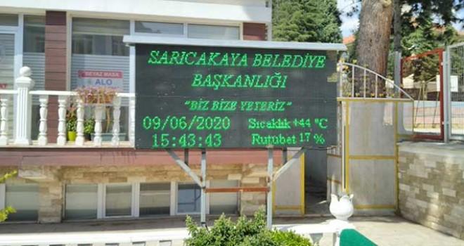 SARICAKAYA'DA SICAKLIK 44 DERECE OLDU