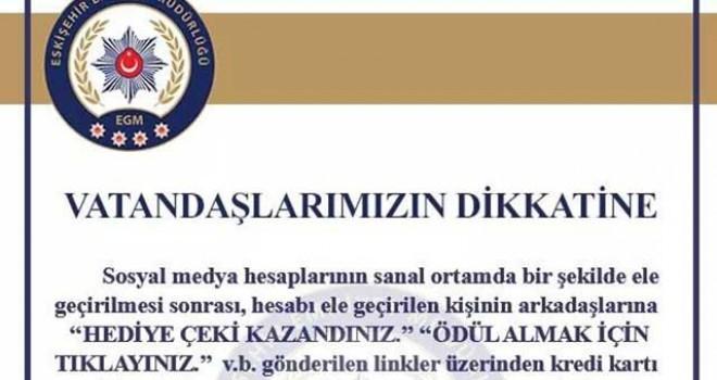 POLİSTEN SANAL DOLANDIRICILIK UYARISI